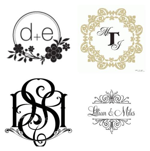 hoje postaremos idéias diversas para monogramas e topos de bolo.