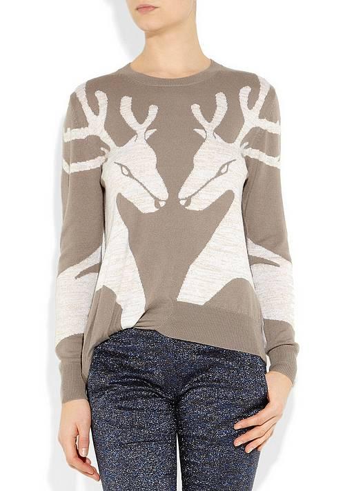 Женский свитер с оленями