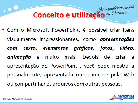 passo a passo como usar o power point