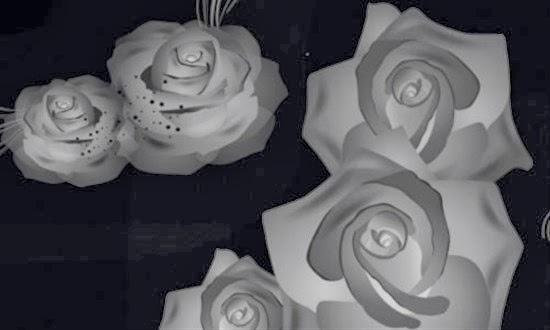 Photoshop Rose Corner Brushes