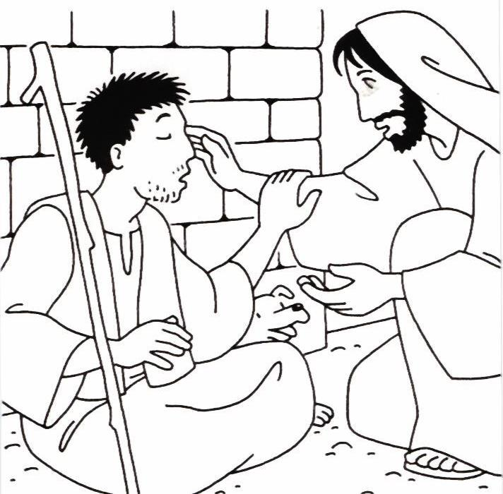 coloring pages healings of jesus - photo#13
