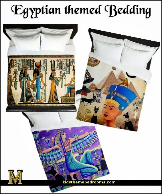 egyptian themed bedding - Egypt theme bedding - Eyptian theme bedroom decorating ideas - Egyptian themed bedding