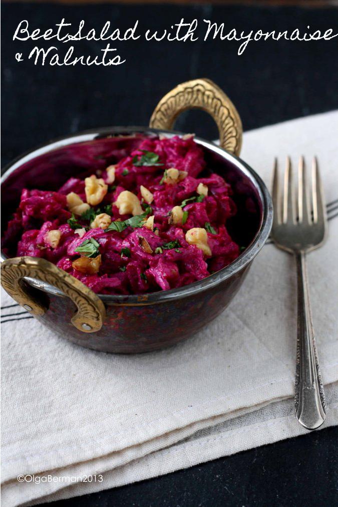 Mango & Tomato: Beet Salad with Mayonnaise & Walnuts: Russian Recipes...