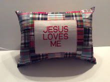 JESUS LOVES ME - plaid