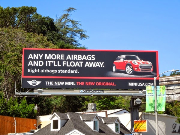 Mini Any more airbags it'll float away billboard