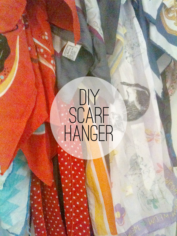 DIY scarf hanger, scarf, rack, display, organizer