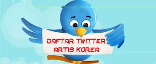 Daftar Lengkap Twitter Artis Korea Terbaru 2012