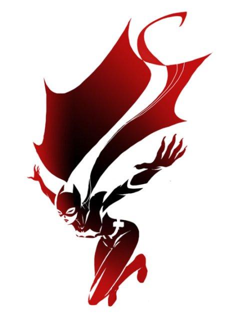 sho murase ilustrações singelas minimalistas espaço negativo mulheres super heroínas Batgirl
