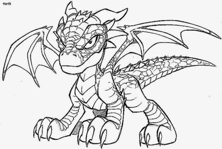 Coloring Pages of Dragons - Laura Williams