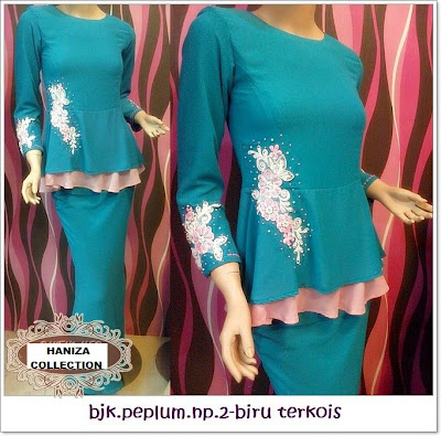 HANIZA COLLECTION: 17/5/2013 : BAJU KURUNG MODEN PEPLUM SHIFFON CREPE