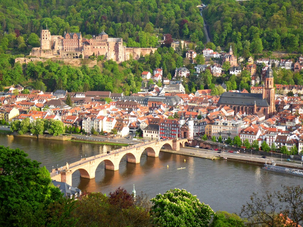 Heidelberg viewed from the Philosophenweg, taken by Andie Gilmour