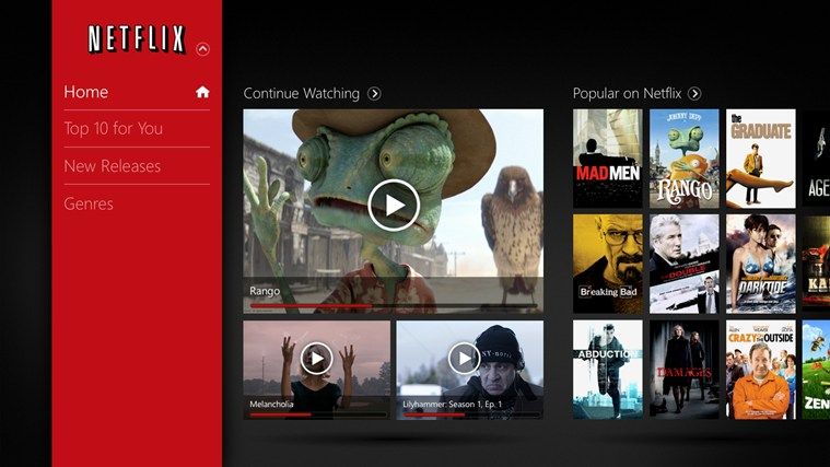 Netflix for Windows 8 1.2.0.29