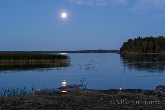 moonlight, kuutamo, saaristo, saaristolaiselämää, merimaisema,