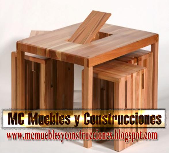 Mesa de madera lenga mc construcciones for Construccion de muebles de madera