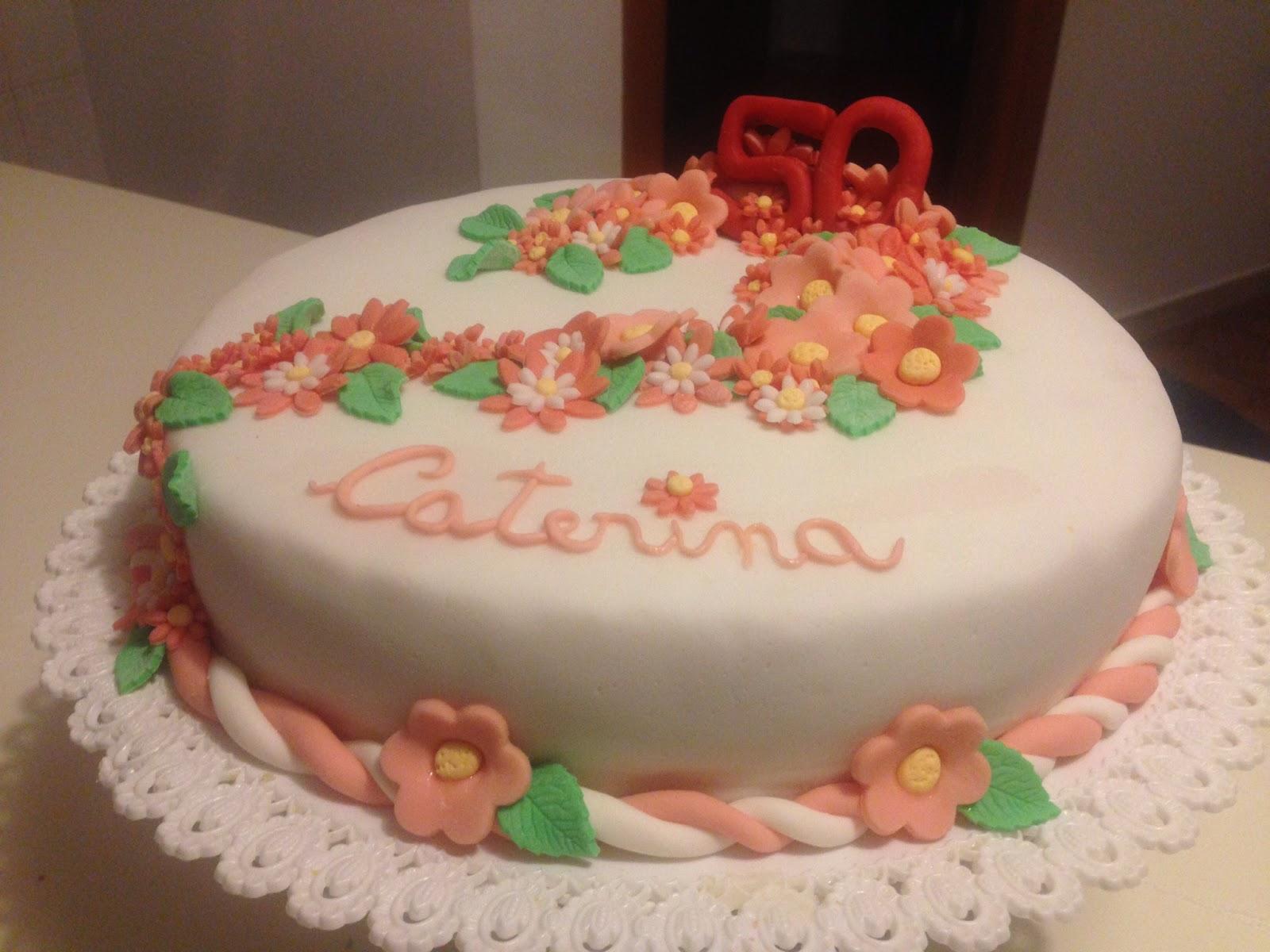 Popolare Zuccherando Dolce Passione: Torta compleanno 50 anni Caterina! FN73