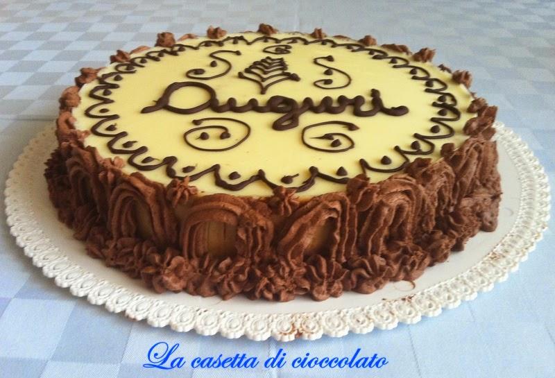 La casetta di cioccolato torta bavarese al caff cuor di for Torte di compleanno al cioccolato decorazioni