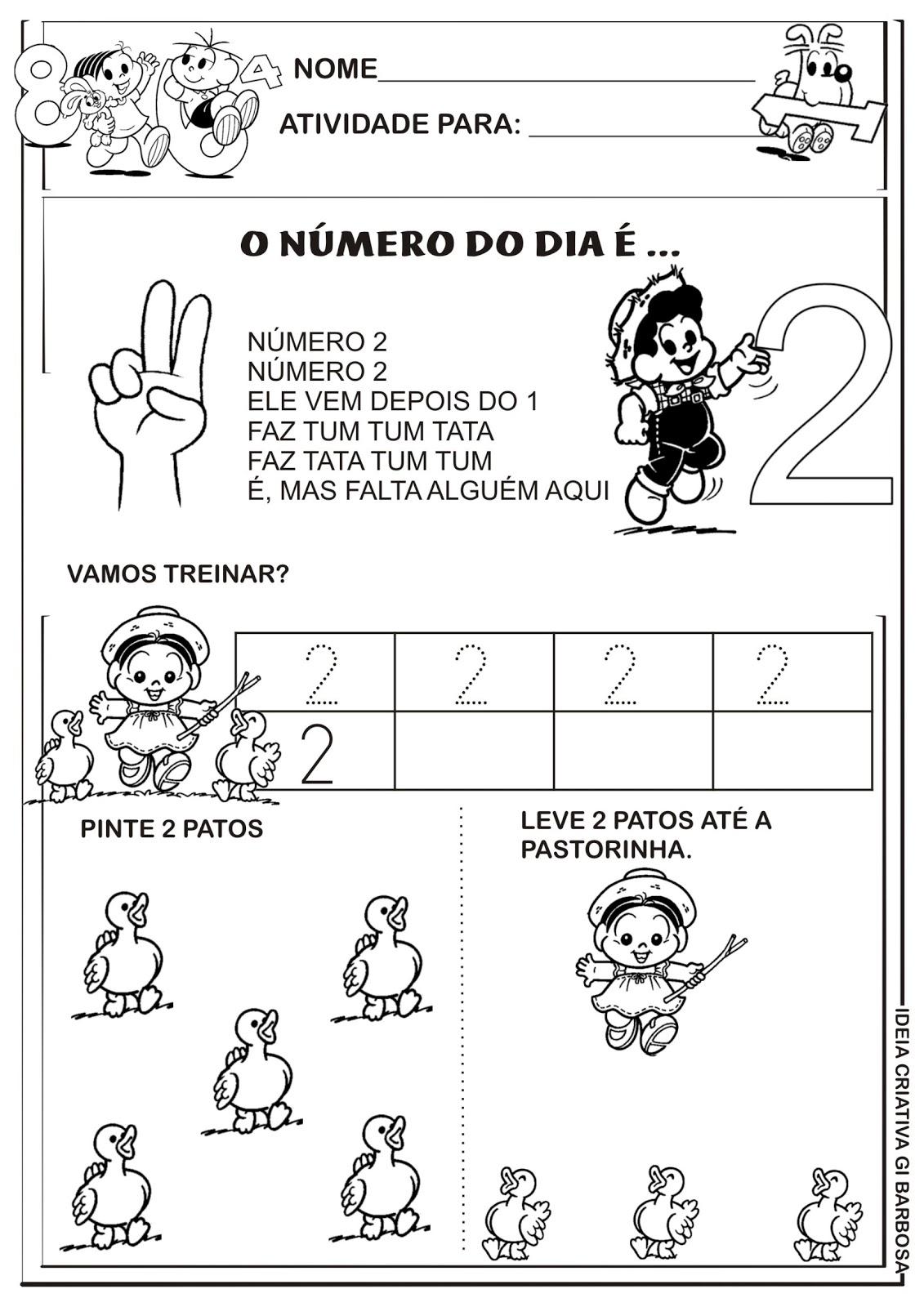 Atividades Numerais Educa    O Infantil