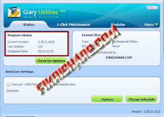 Glary Utilities PRO 2.50.0.1632 Full Serial Number / Key, keygen, crack, patch