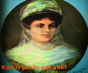 Kadın şairin adı yok!