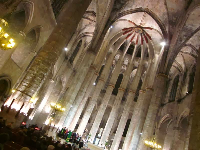 Gothic church of Santa Maria del Mar in Barcelona