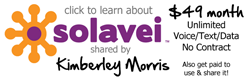Solavei $49/month Unlimited Voice/Text/Data, PLUS RESIDUAL MONEY BACK Opportunity!