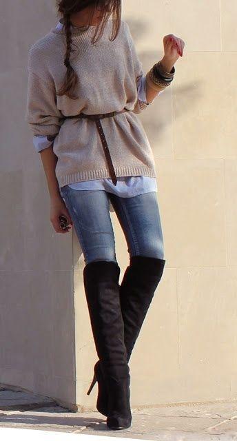 Adorable warm street style fashion