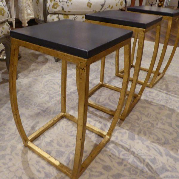 black and gold cocktail table