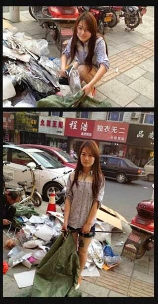 Gadis Cantik Pemulung di Cina