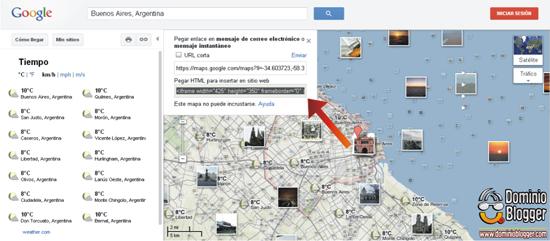 Como colocar Google Maps en Blogger - Paso 3