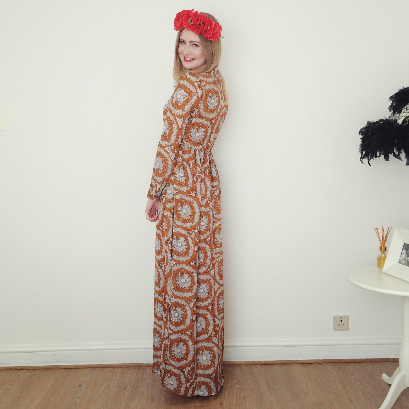 FashionFake, fashion bloggers, 70s maxi dress, 70s trend SS15
