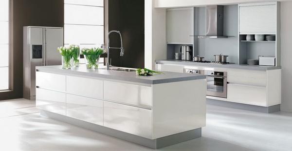 Modèles de cuisine blanches Très contemporaines ~ Décor de Maison ...