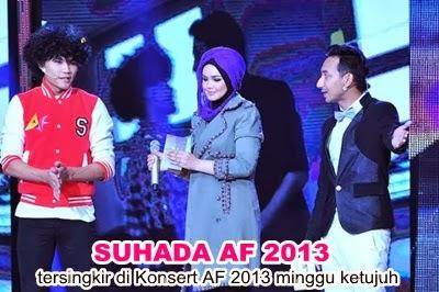 Suhada tersingkir minggu ketujuh AF 2013, Suhada tersingkir minggu ketujuh Akademi Fantasia 2013