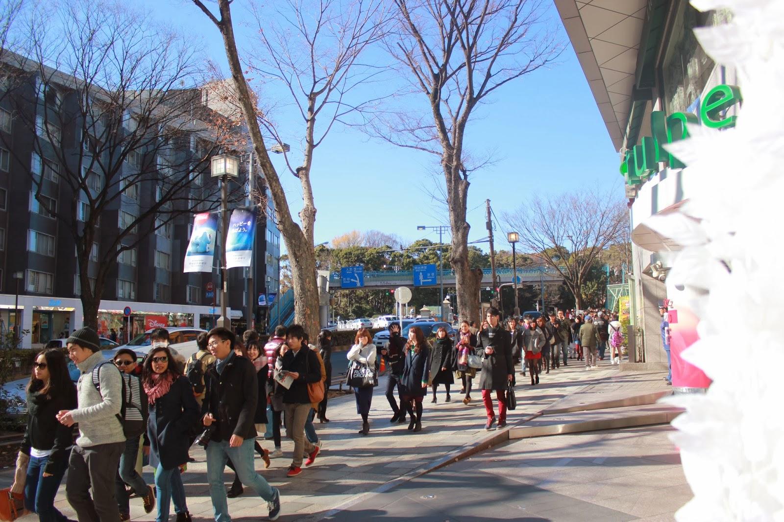 Busy Harajuku Street