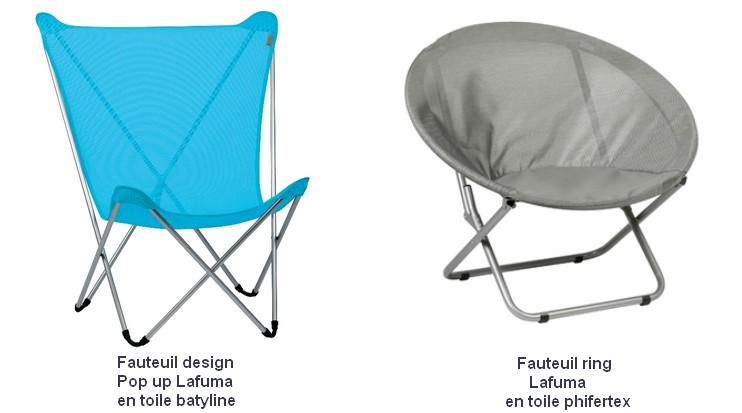 Du confort et de l 39 originalit adoptez le mobilier lafuma bazar avenu - Fauteuil ring lafuma ...