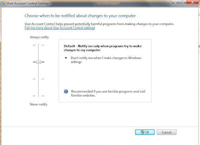 Customize UAC in Windows 7