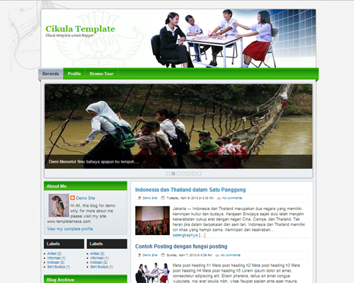 Template Blogger Untuk Sekolah