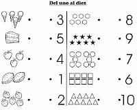 fichas gráficas para trazar el uno 1 fichas gráficas para colorear