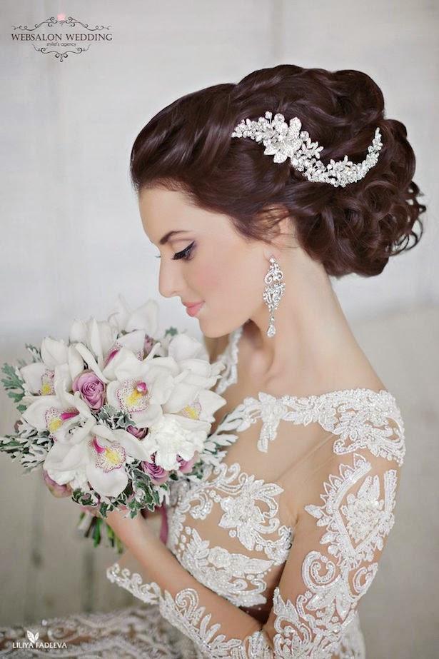 peinado de novia wedding hairstyle свадебные прически