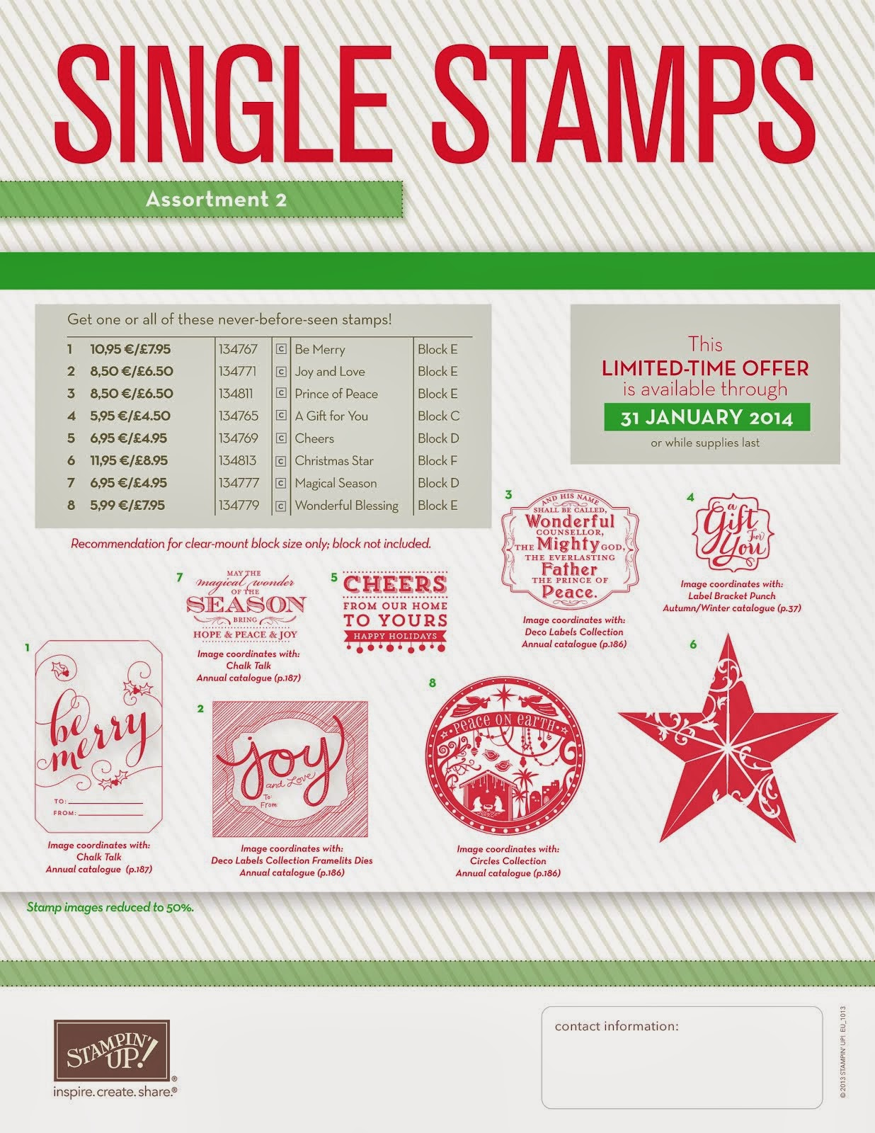 Single Stamps - kerst collectie