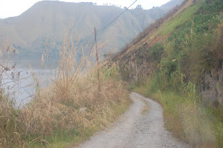 Beginilah Kondisi Jalan Lingkar Danau Toba di Simalungun