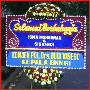 Bunga Papan Happy Wedding Bogor