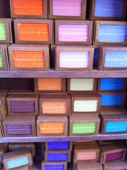 Marseille soap for sale in Provence