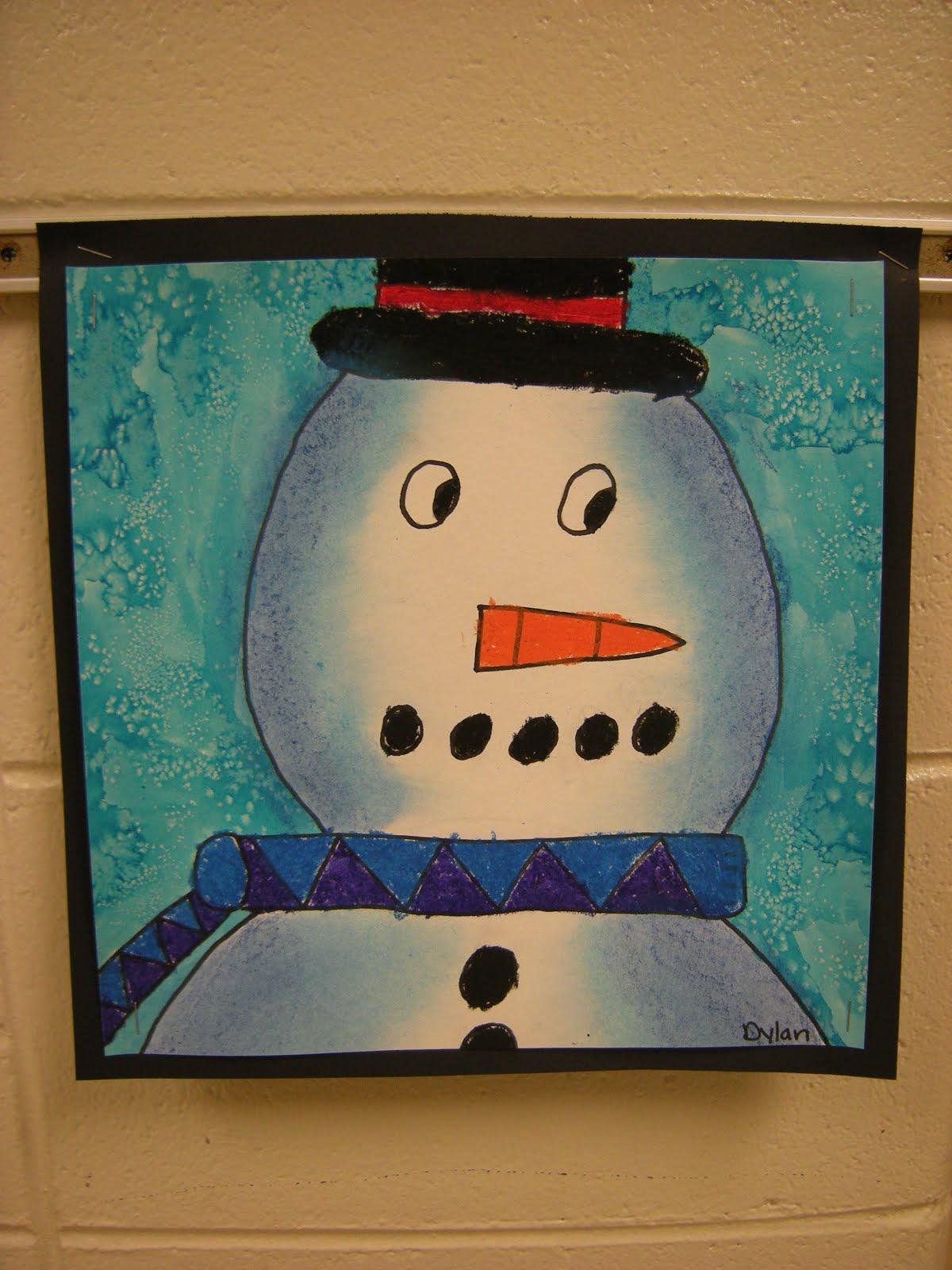 what u0027s happening in the art room 3rd grade snowmen