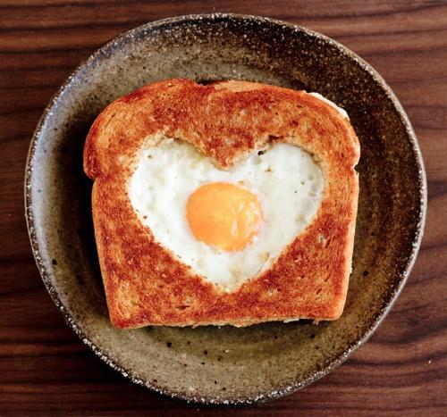 eggs breakfast brunch egg in a basket poached egg valentines day