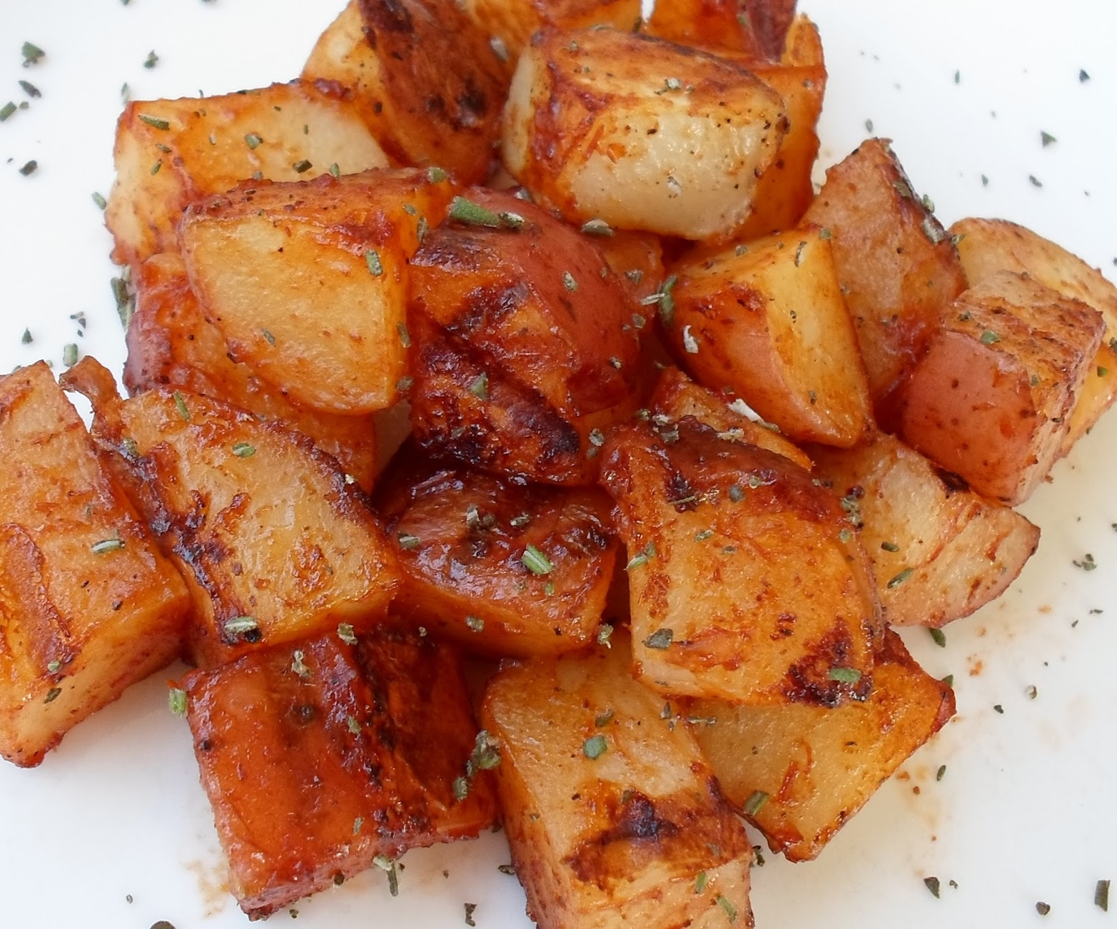 Happier Than A Pig In Mud: Grilled Potatoes with BBQ Sauce, Rosemary ...