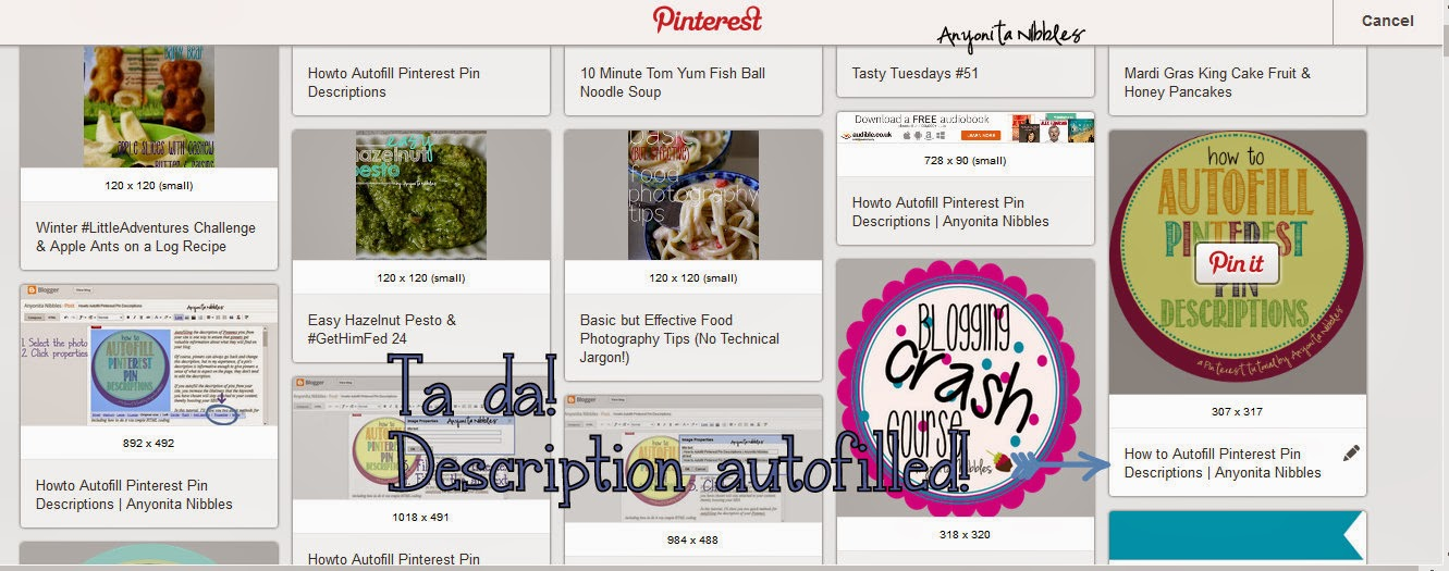 Ta da! Taking control of the Pitnerest Pin Description Box | Anyonita Nibbles