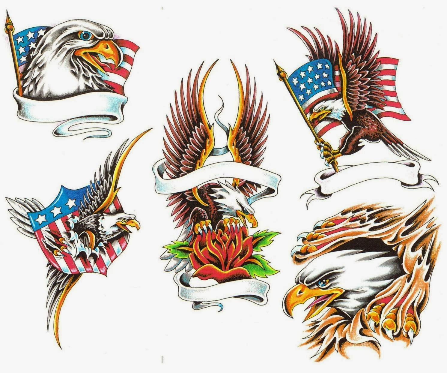 Meaning of Old school eagle tattoos