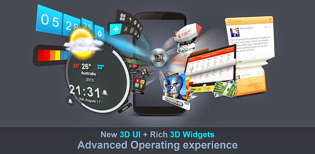 TSF Shell 3D Launcher v3.2.1 APK Full