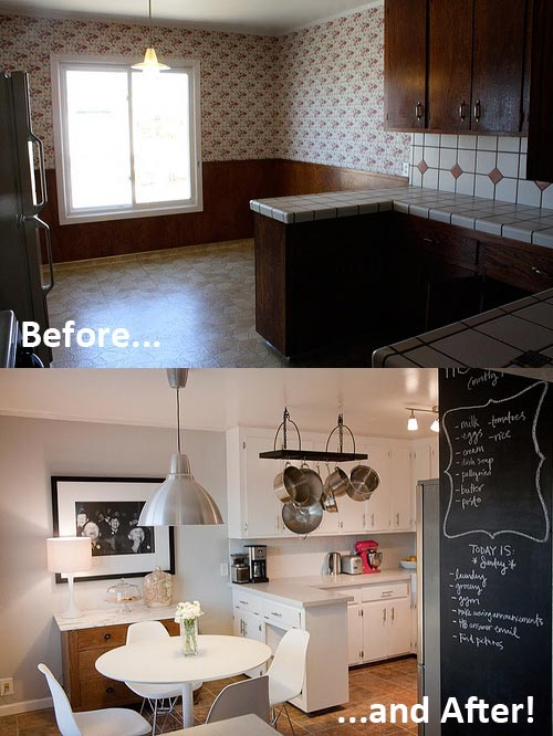DIY Kitchen Cosmetic Makeovers On Apartment Therapy