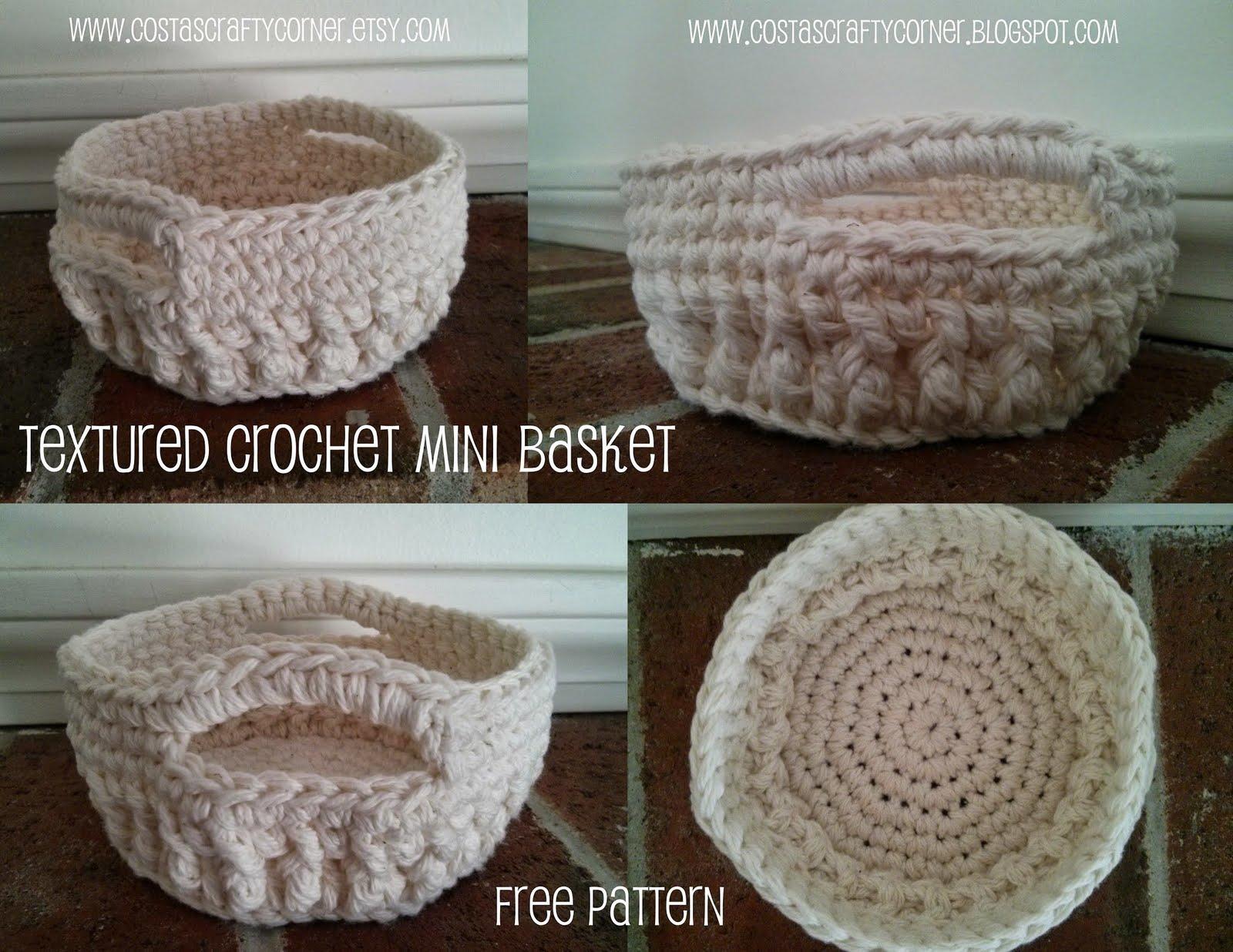 Costa\'s Crafty Corner: Project: Mini Crochet Basket Pattern